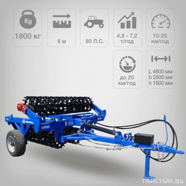 Валяци Orehovselmash Валяк за раздробяване и подравняване на почвата 2 - Трактор БГ