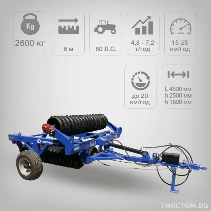 Валяци Orehovselmash Валяк за раздробяване и подравняване на почвата 3 - Трактор БГ
