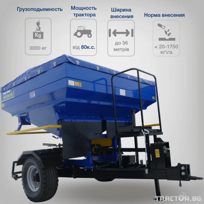 Торачки Orehovselmash Торачка за минерални торове RMD-3000 0 - Трактор БГ